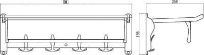 Полка для полотенец откидная 60 см Savol S-006099