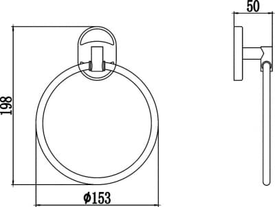 Полотенцедержатель кольцевой Savol S-007060