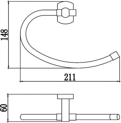 Полотенцедержатель кольцевой Savol S-009963