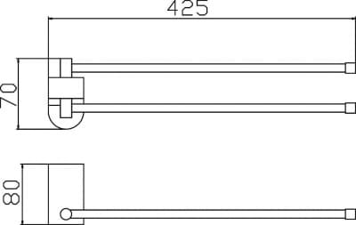Полотенцедержатель поворотный двойной Savol S-007396
