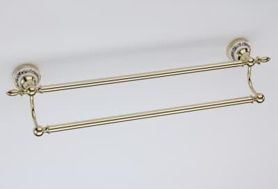 Полотенцедержатель трубчатый двойной Savol S-006848B