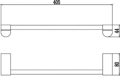 Полотенцедержатель трубчатый одинарный 40см Savol S-407324