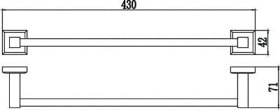 Полотенцедержатель трубчатый одинарный 40см Savol S-409524