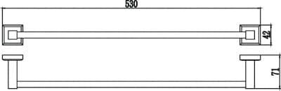 Полотенцедержатель трубчатый одинарный 50см Savol S-509524