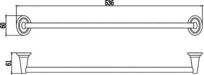 Полотенцедержатель трубчатый Savol S-003124