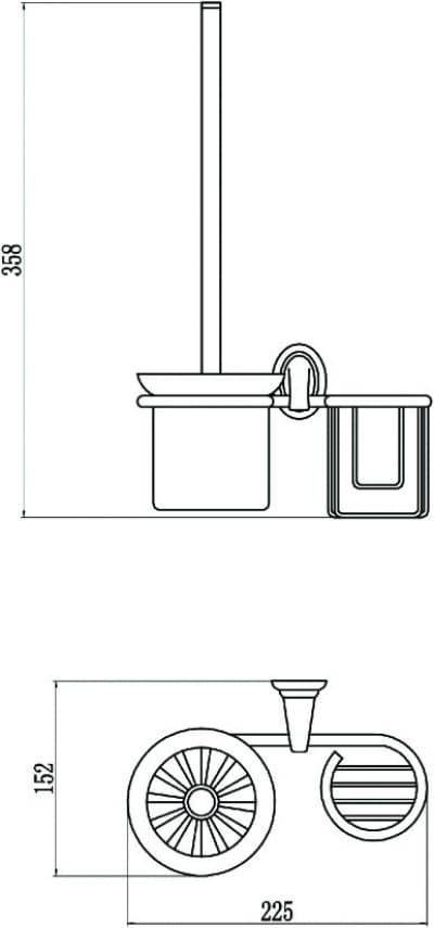 Щетка для унитаза c держателем освежителя воздуха Savol S-L03194