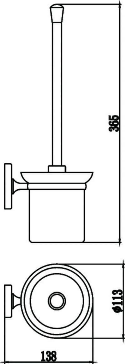 Щетка для унитаза Savol S-007094