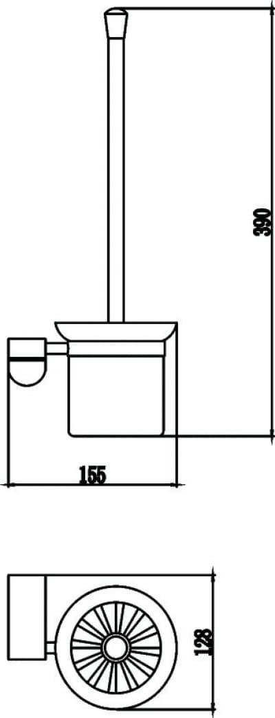 Щетка для унитаза Savol S-007394