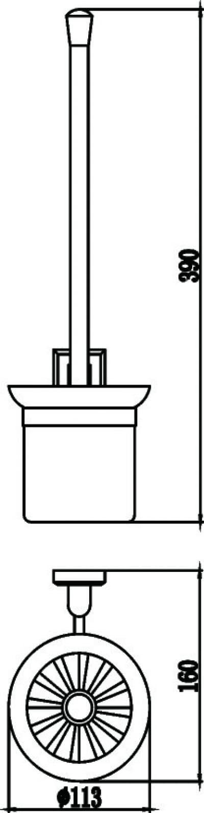 Щетка для унитаза Savol S-009594