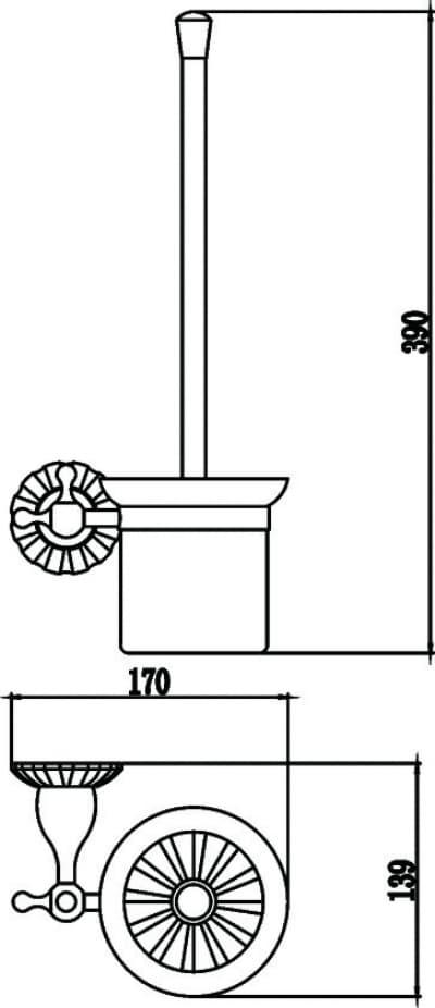 Щетка для унитаза Savol S-08994C
