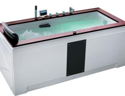 С гидромассажем акриловая ванна Gemy G9057 II K R 186 прямоугольная 186x91