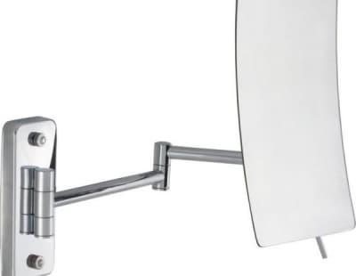 Sanibano, настенное прямоугольное косметическое зеркало с 5-и кратным увеличением, цвет хром H90001/CR
