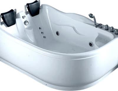 С гидромассажем акриловая ванна Gemy G9083 B L 180 асимметричная 180x121