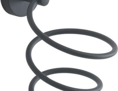 Gedy G-Eros, держатель для фена, цвет черный матовый 2355(14)