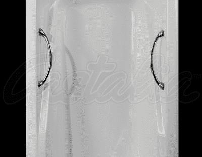 """Ванна чугунная CASTALIA """"CARINA""""-1700x750x420 хром ручки Н0000014 170x75 прямоугольная"""