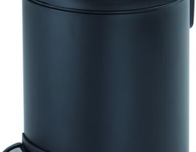 Gedy G-Potty, круглый контейнер для мусора с педалью - 3 литра, цвет черный матовый 3209(14)