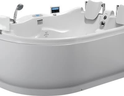 С гидромассажем акриловая ванна Gemy G9083 O R 180 асимметричная 180x121