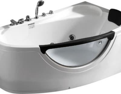 С гидромассажем акриловая ванна Gemy G9046 B R 161 асимметричная 161x96