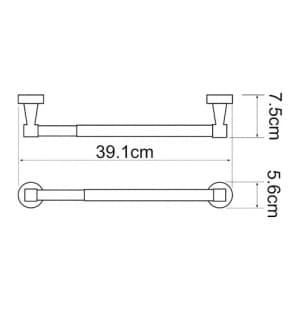 К-4022/32 см Держатель бумажных полотенец WasserKRAFT
