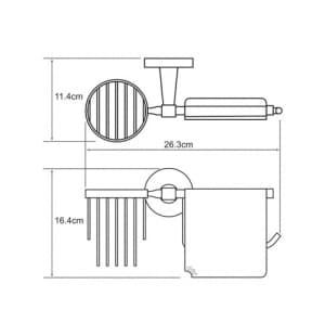 К-4059 Держатель туалетной бумаги и освежителя WasserKRAFT