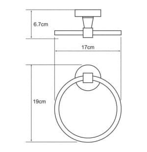 К-4060 Держатель полотенец кольцо WasserKRAFT