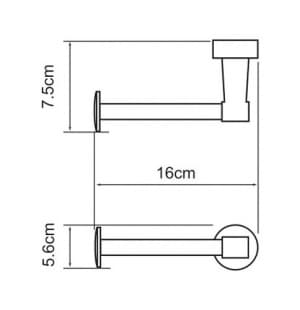 К-4096 Держатель туалетной бумаги WasserKRAFT