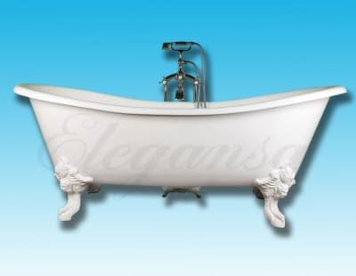 """Ванна чугунная ELEGANSA """"NADIA"""" white Н0000366 180x80 овальная"""