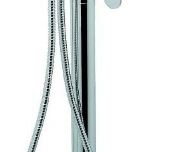Напольный смеситель Nefer с ручным душем для ванной, цвет хром 77030CR