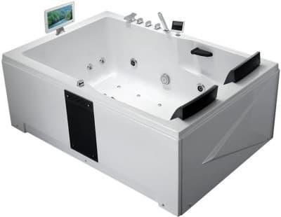 С гидромассажем акриловая ванна Gemy G9061 O L 181 прямоугольная 181x121