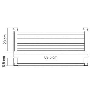 К-5211 Полка для полотенец WasserKRAFT