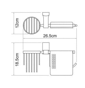 К-5259 Держатель туалетной бумаги и освежителя WasserKRAFT