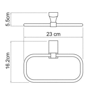 К-5260 Держатель полотенец кольцо WasserKRAFT