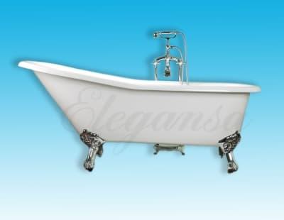 """Ванна чугунная ELEGANSA """"SCHALE"""" chrome Н0000202 170x75 овальная"""
