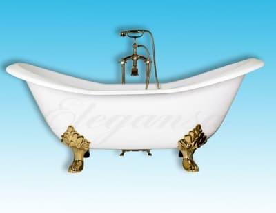 """Ванна чугунная ELEGANSA """"TAISS"""" gold Н0000362 180x80 овальная"""