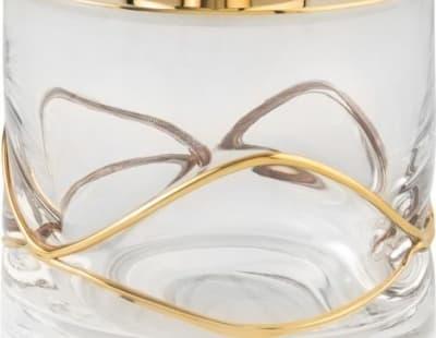 Surya Crystal Stream, емкость для ватных дисков с крышкой, цвет золото 6620/GO