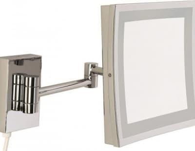 Sanibano, настенное квад. зеркало с 3-х кратным увелич. и LED подсвет. (без провода и вилки), цвет х HE8800/WITHOUTLED