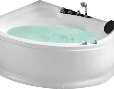 С гидромассажем акриловая ванна Gemy G9003 B L 152 асимметричная 152x121