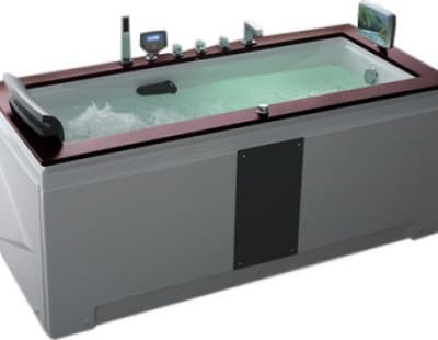 С гидромассажем акриловая ванна Gemy G9057 II O R 186 прямоугольная 186x91
