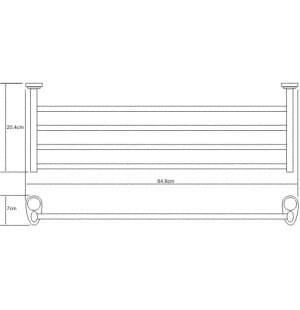K-9211 Полка для полотенец WasserKRAFT