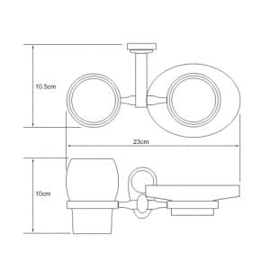 K-9226 Держатель стакана и мыльницы WasserKRAFT