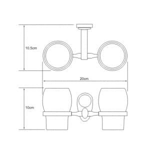 K-9228D Подстаканник двойной стеклянный WasserKRAFT
