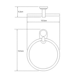 K-9260 Держатель полотенец кольцо WasserKRAFT