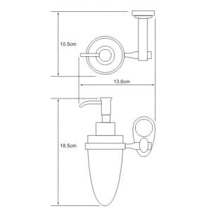 K-9299C Дозатор для жидкого мыла керамический WasserKRAFT