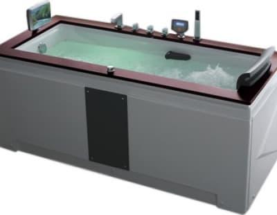 С гидромассажем акриловая ванна Gemy G9057 II O L 186 прямоугольная 186x91