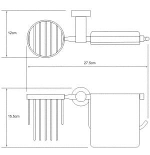 K-9459 Держатель туалетной бумаги и освежителя WasserKRAFT