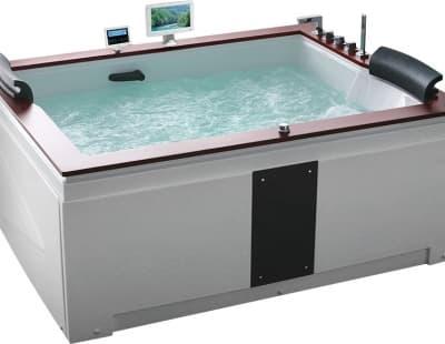 С гидромассажем акриловая ванна Gemy G9052 II O R 186 прямоугольная 186x151