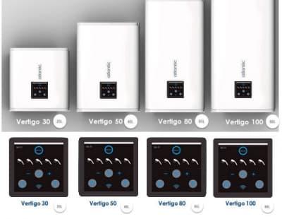 Водонагреватель накопительный Atlantic Vertigo Steatite WiFi 100 электрический 80 литров 851261