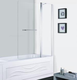 Шторка для ванны ESBANO ES-1412 поворотная с полотенцедержателем 120x140
