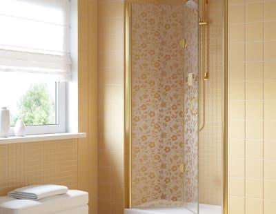 Душевая дверь Vegas-Glass GPS Lux 0095 профиль золото стекло жасмин R