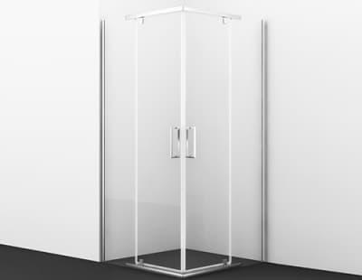 Leine 35P03 Душевой уголок, квадрат, с распашными дверьми WasserKRAFT